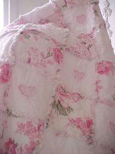 Shabby Chic Rag Quilt Cottage Chic by GwendolynDiva
