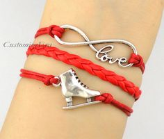 Infinity Love Ice skate bracelet Figure Skating by CustomizeEra, $3.99
