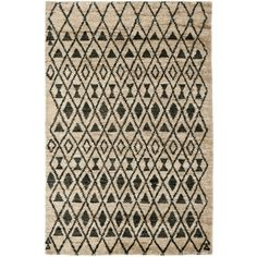 Shop for Safavieh Hand-knotted Tangier Ivory/ Black Wool/ Jute Rug (4' x 6')…
