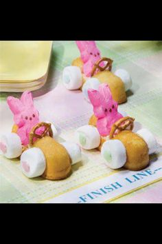 PEEPS Mobile for Easter - twinkies, pretzels and butter mints