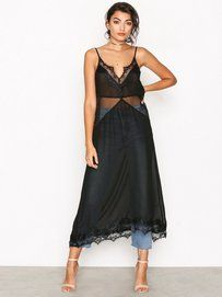 Nelly.com: Lace Mix Slip Dress - NLY Trend - women - Black. New clothes, make - up and accessories every day. Over 800 brands. Unlimited variety.