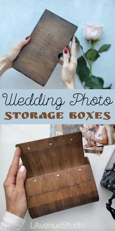 25 Best rustic wedding photo storage boxes by LAvenueStudio. Photo storage & wooden photo organizer. Custom wooden box with leather top for photos. Personalized Wooden photo box 4x6 is the best wedding gift for friends
