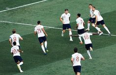 John Stones of England celebrates after scoring their goal during the 2018 FIFA World Cup Russia Group G match between England and Panama at the Nizhny Novgorod Stadium on June 2018 in Nizhny. England Fans, John Stones, Fifa World Cup, Goals, Running, Celebrities, Sports, Hs Sports, Celebs