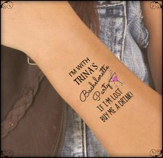 Temporary Tattoo 10 Bachelorette Party Custom Wrist Tattoos Thin Durable One Free Bride Tattoo