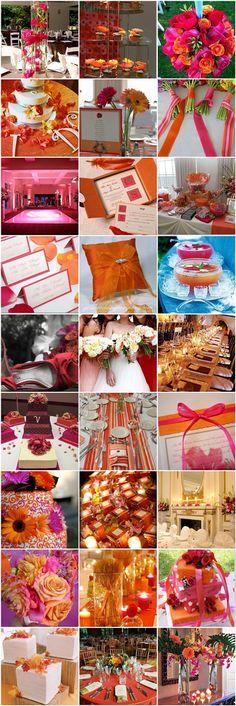 #mariage #fuchsia et #orange sur notre site web: http://www.feezia.com/univers/themes/mariages-et-baptemes/mariage-fuchsia-orange.html