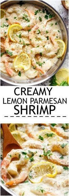 Creamy Lemon Parmesan Shrimp
