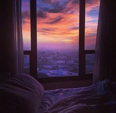 sky, sunset, and window resmi