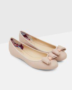 Bow ballet pumps - Pink   Shoes   Ted Baker NEU