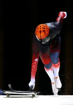 www.huffingtonpost.ca  / John Fairbairn - Canada. Insane in the brain! John Fairbairn has one of the most memorable Skeleton helmets. (Photo by Alex Livesey/Getty Images).