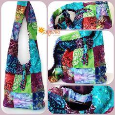 Hippy Satchel Hobo Bag One Of A Kind School Bag by Sunjunki, $45.00