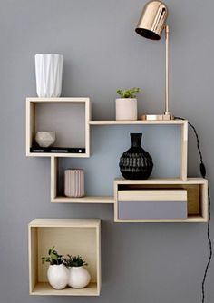 DIY display & storage ideas; a pretty wall display