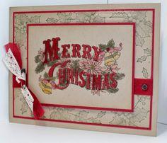 Trinity Designs: GoDivas Vintage Christmas Postcard