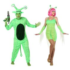 Pareja Disfraces de Extraterrestres #parejas #disfraces #carnaval
