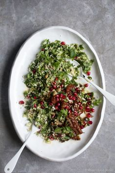 Broccoli Rice: 19 Low-Carb Recipes That Use the Green Vegetable | Greatist  Just 'cause we call it broccoli rice doesn't mean it can't stand in for other grains. In this Middle Eastern-inspired salad, it works as a fantastic bulgur substitute, fitting in seamlessly with the bolder flavors of the parsley, sun-dried tomatoes, and lime.