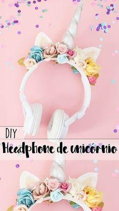 DIY   Como transformar seu headphone em um phonecórnio! ♥ Fone de unicório