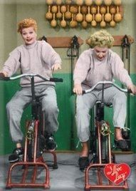 I Love Lucy ~ Lucy & Ethel Getting a Workout