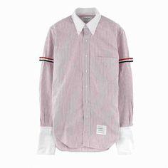 [G228]トムブラウン/THOM BROWNE/MWL180CW9714/メンズ/ストライプ/シャツ/長袖シャツ