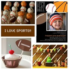 I love Sports Birthday Party Theme