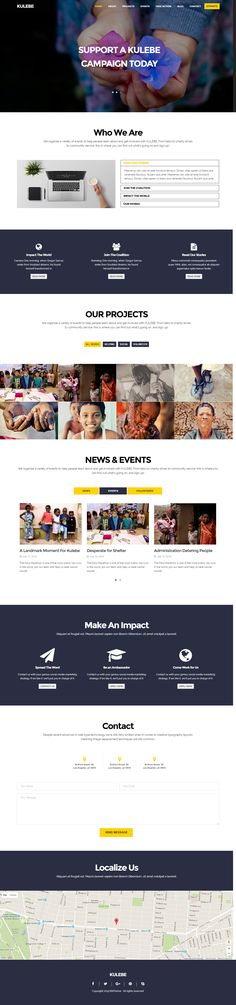 Kulebe is a Retina Display Ready Responsive built with & It is perfect for a nonprofit charity Charity Shop, Charity Websites, Retina Display, Ui Ux Design, Premium Wordpress Themes, Web Design Inspiration, Non Profit, Templates, Building