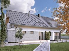 Projekt domu Amarylis 3 152,6 m2 - koszt budowy - EXTRADOM Home Fashion, House Plans, Garage Doors, House Styles, Outdoor Decor, Home Decor, Plane, House 2, Arquitetura