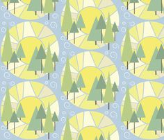 Peaceful Mornings fabric by bojudesigns on Spoonflower - custom fabric ... Idea for a cute quilt