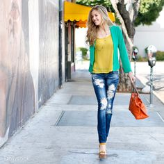Color Me Casual Look by Jella Couture, Machine and Swoon