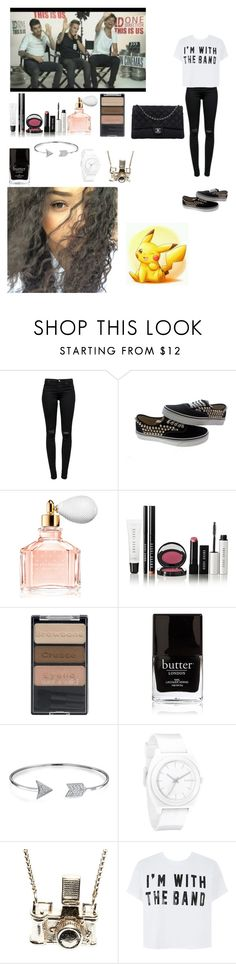 """""""Interview w/ Louis Liam and Zayn"""" by rosemie ❤ liked on Polyvore featuring J Brand, Vans, Guerlain, Bobbi Brown Cosmetics, Wet n Wild, Butter London, Bling Jewelry, Nixon, Kiel Mead Studio and Chanel"""
