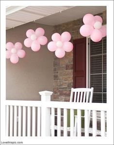 Balloon Flower flower pink balloon baby shower baby shower ideas baby shower images baby shower pictures baby shower photos baby girl