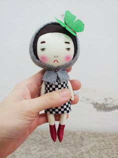 Handmade+doll+with+a+butterfly+on+the+top+of+by+EEchingHandmade,+$30.00