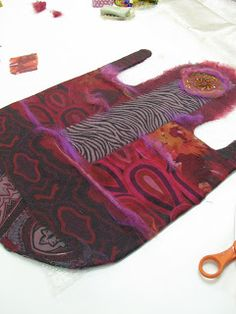 Contemporary Art and Feltmaking Instruction- silk fabric felting