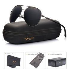 c32c91b6392 LUENX Men Aviator Sunglasses Polarized Women - UV 400 with case 60MM  LUENX   Pilot