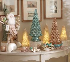 Mercury Glass Kaleidoscope Light Show Tree by Valerie Glass Christmas Tree, Christmas Colors, Christmas Time, Vintage Christmas, Christmas Ornaments, Holiday, Christmas Ideas, Christmas Centerpieces, Christmas Decorations