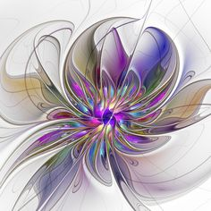 Energetic, Abstract And Colorful Fractal Art Flower Wall Tapestry by gabiw Art - Small: x Fractal Design, Fractal Art, Abstract Flowers, Abstract Art, Flower Text, Flower Wall, Flower Graphic, Unique Flowers, Beautiful Flowers