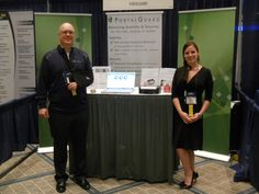 Mark Cochran and Kimberly Johnson at one of the tradeshows PortalGuard exhibited at. For more information, please visit: portalguard.com/