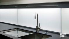 LED Lighting Wall Panel- backsplash with uniform countertop lighting combined.