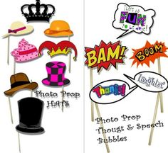 FREE Photo Prop Downloads perfect for wedding or bridal shower bachelorette party baby shower even
