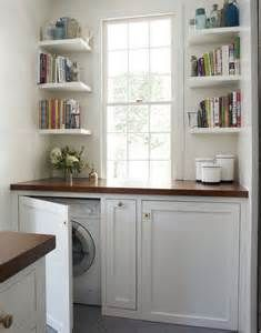 ... to hide washer and dryer Washer and dryer hidden in a kitchen hutch