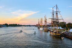 Tall Ships at Sunset - Bay City, Michigan