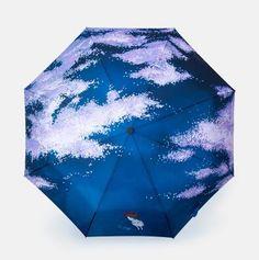 Creative Artsy Forest Animal Print UV-Resistant Three-Folding Umbrella 8 Styles