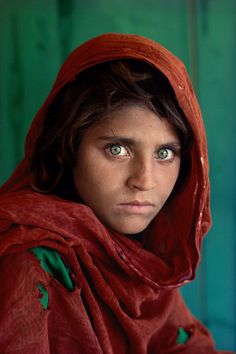 McCurry's Afghan Girl c1984. From 'the pictures that changed photography – part four | Art and design | The Guardian'