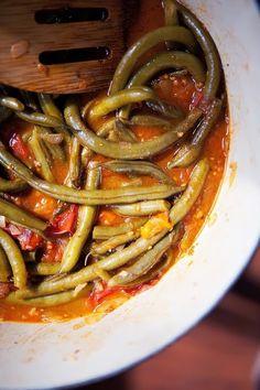 Fasolakia - Greek Runner Beans in Tomato