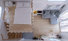 Attefallshus med loft Bohuslän 25 Loft Perfekt för uthyrning Anpassningsbar Totalentreprenad Nordic Lights, Compact Living, Small House Design, Moving Out, House Made, Minimalism, House Ideas, Cottage, Interior