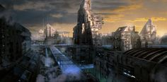 ArtStation - Sci-fi city , YOUNG IL CHOI