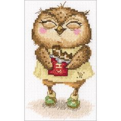 """Chocolate Bits Counted Cross Stitch Kit-4""""X6"""" 14 Count"""