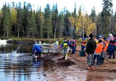 Travellers admiring vendace fishing in Miekojärvi Lake in Pello in Lapland - Travel Pello - Lapland, Finland Lapland Finland, Big Lake, Arctic Circle, Best Fishing, Most Beautiful, Europe, Mountains, World, Places