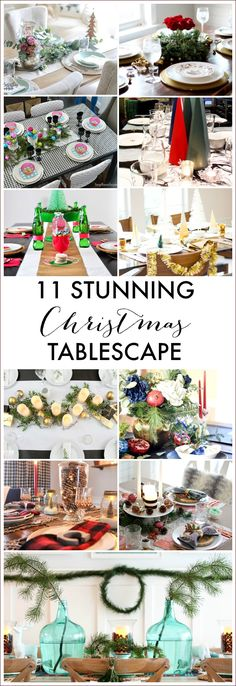 Visit 11 beautiful and creative Christmas tablescapes in this blog hop for the ultimate Christmas table inspiration!