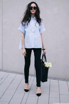 Classic shirt style #chic #minimal #classic