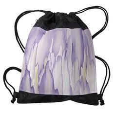 Abstract Orchid Painting Drawstring Bag