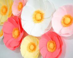 6 papel gigante flores grandes amapolas/de la por LandofFlowers