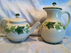 Franciscan IVY Coffee Pot & Tea Pot made in Calif. U.S.A. #FranciscanChina